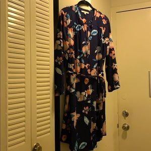 41 Hawthorn Christen Shirt Dress L Navy Floral